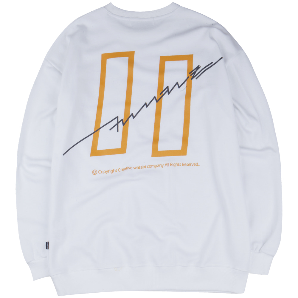 19 Signature Logo Graphic Over-Fit Sweatshirts White