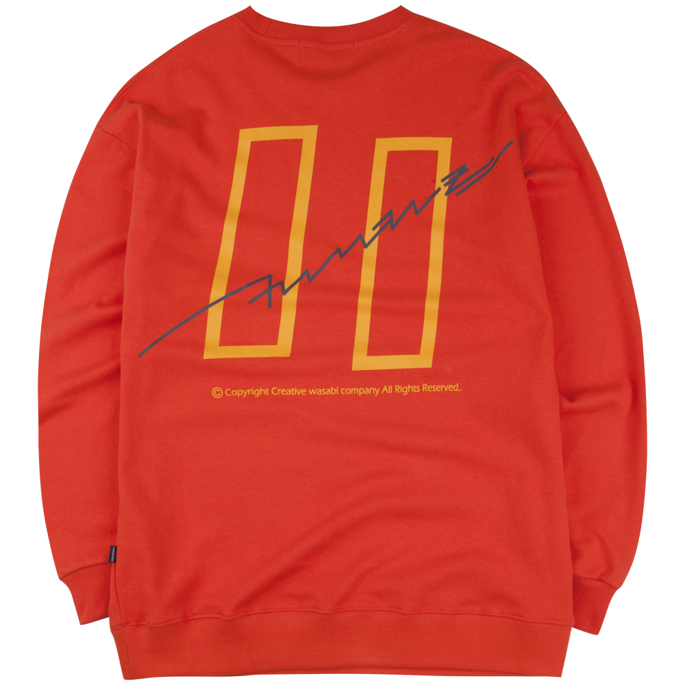 19 Signature Logo Graphic Over-Fit Sweatshirts Orange