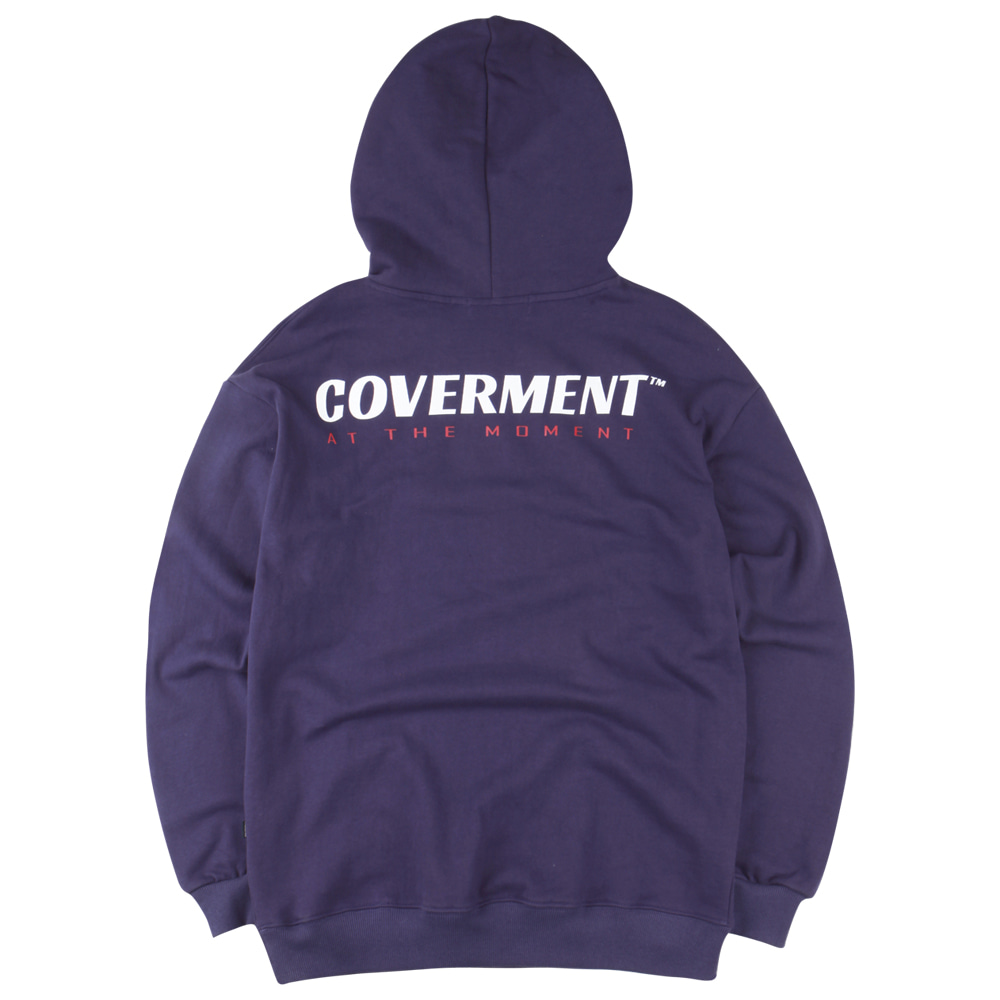 Slogan Logo Print Over-Fit Hoodie Purple