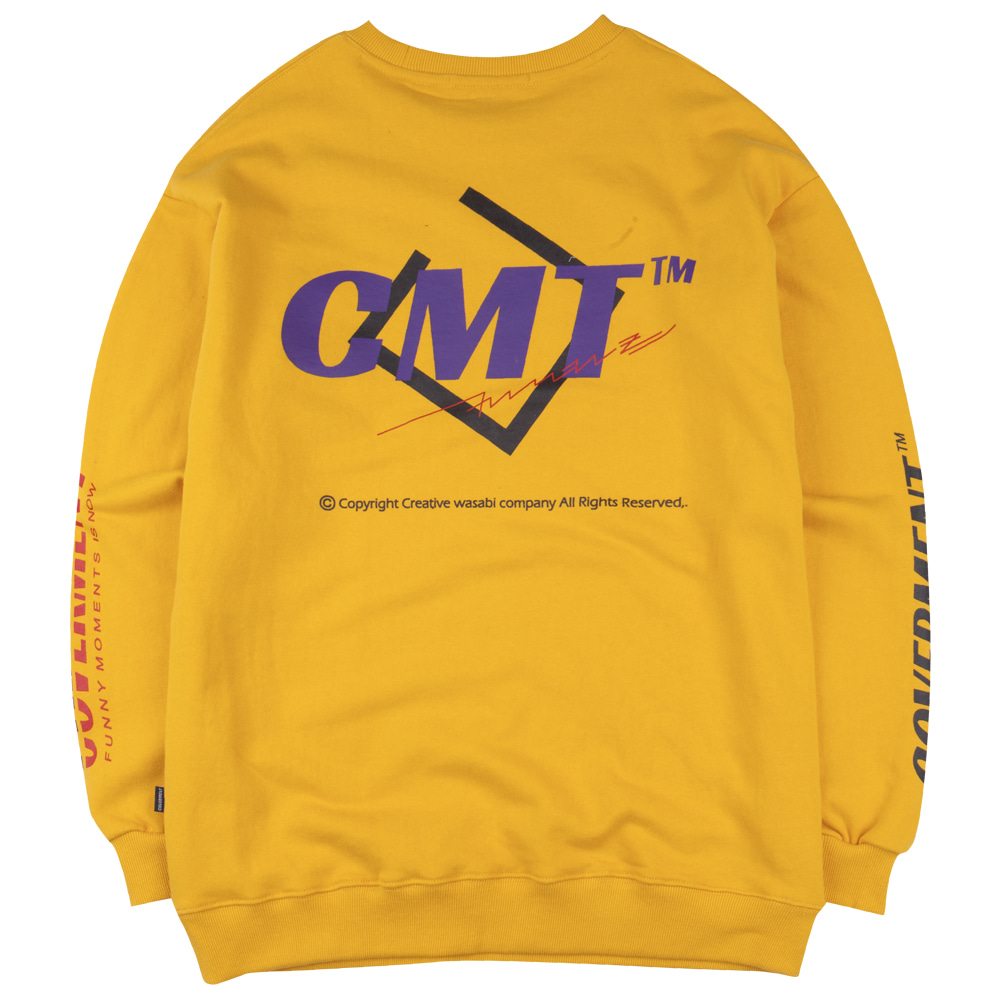 Cube Logo Graphic Sweatshirts Yellow