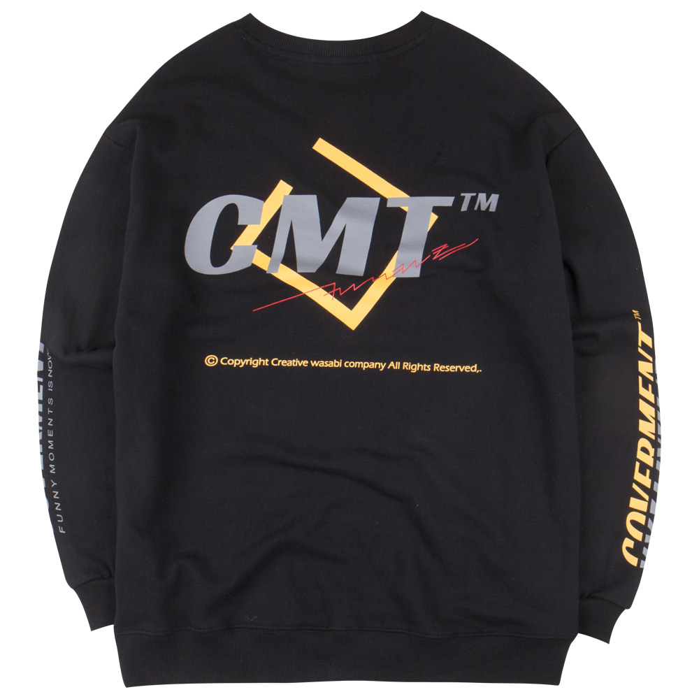 Cube Logo Graphic Sweatshirts Black