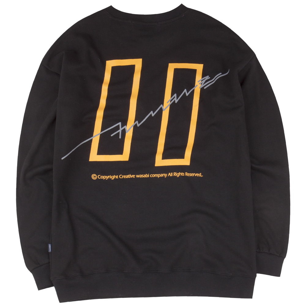 19 Signature Logo Graphic Over-Fit Sweatshirts Black
